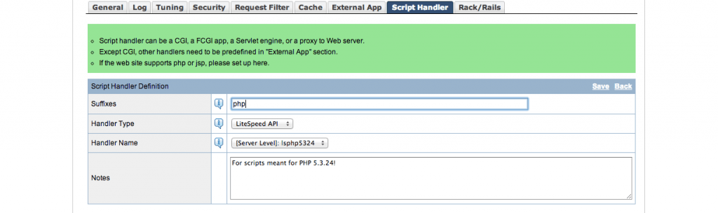 PHP 5.3.24 Script Handler
