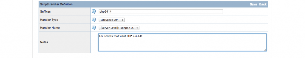 PHP 5.4.14 Script Handler