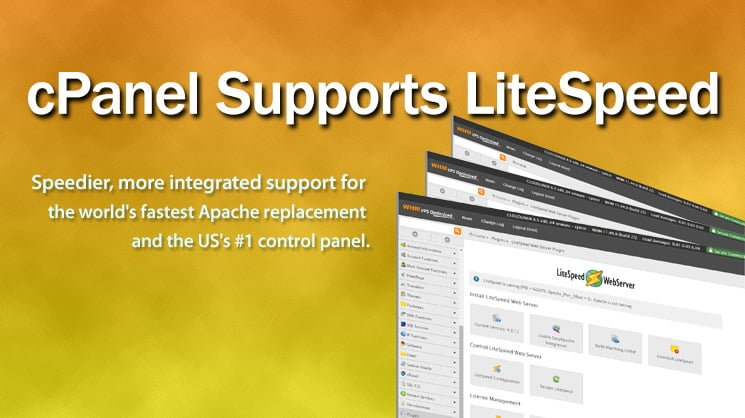 cPanel supports LiteSpeed