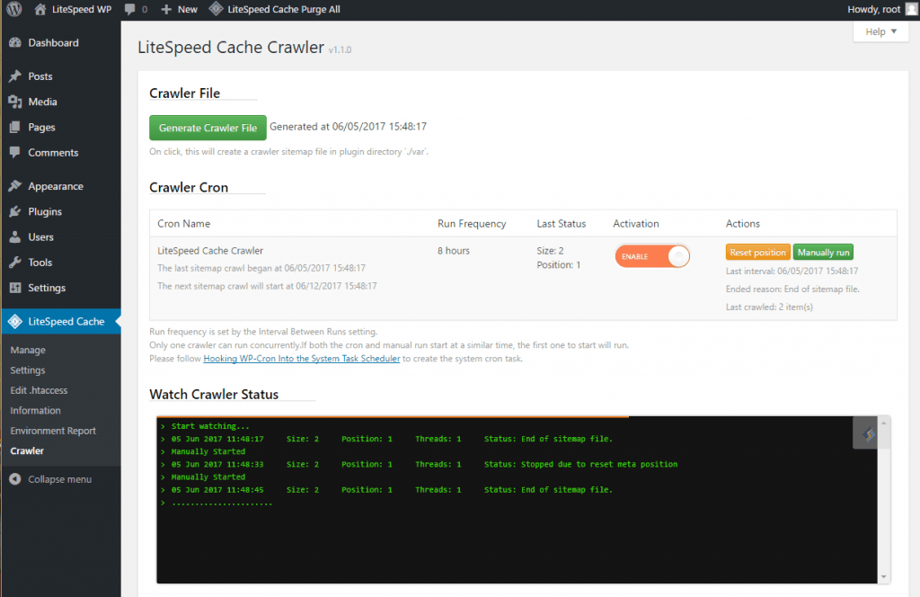WordPress Cache Crawler