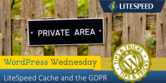 WpW: LiteSpeed Cache and the GDPR