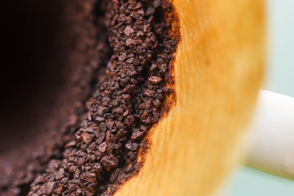 Query Strings You Can Ignore: pourover coffee grounds closeup