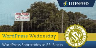 WpW: WordPress Shortcodes as ESI Blocks
