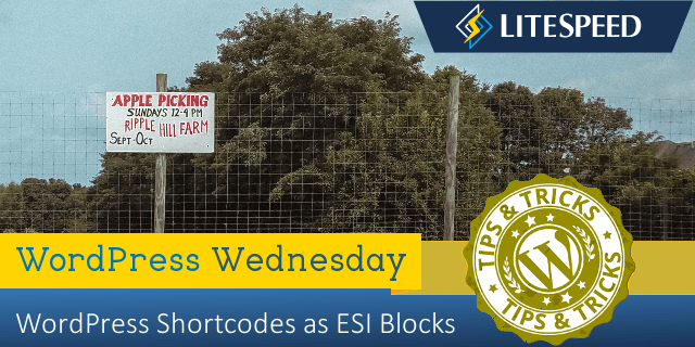 WordPress Wednesday: Shortcodes as ESI Blocks