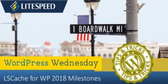 WpW: LSCache for WordPress 2018 Milestones
