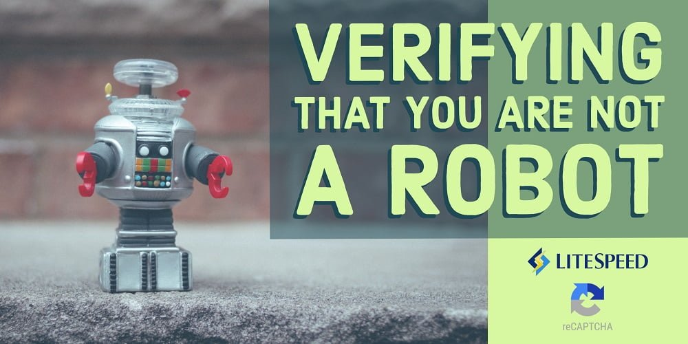 reCAPTCHA Server-Wide Protection: Verifying that you are not a robot